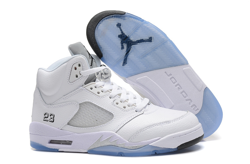 2015 Air Jordan 5 White Metallic Silver For Sale