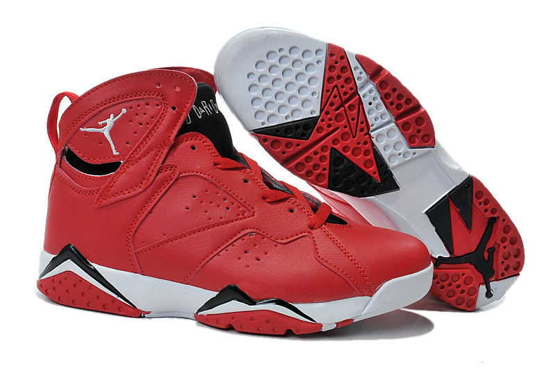 2015 Air Jordan 7 Red Black White Shoes