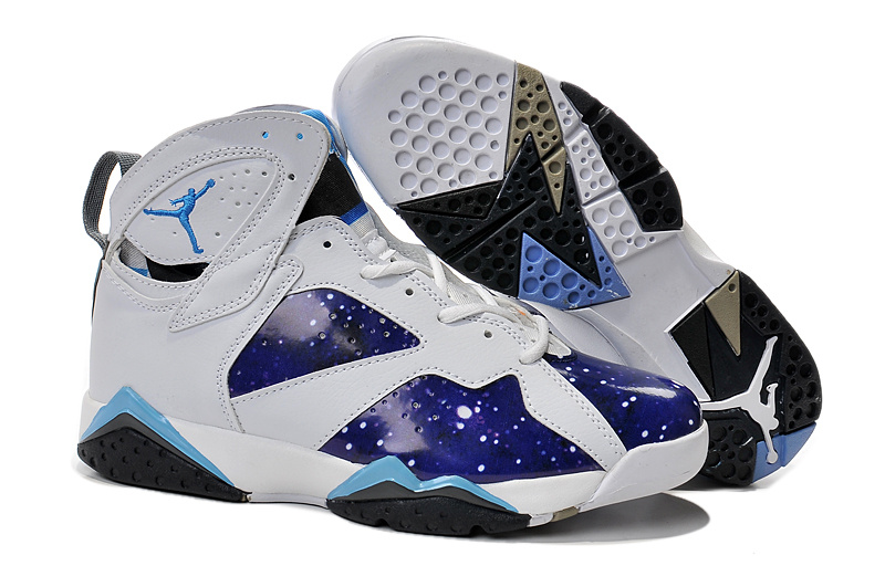 2015 Air Jordan 7 White Galaxy Custom