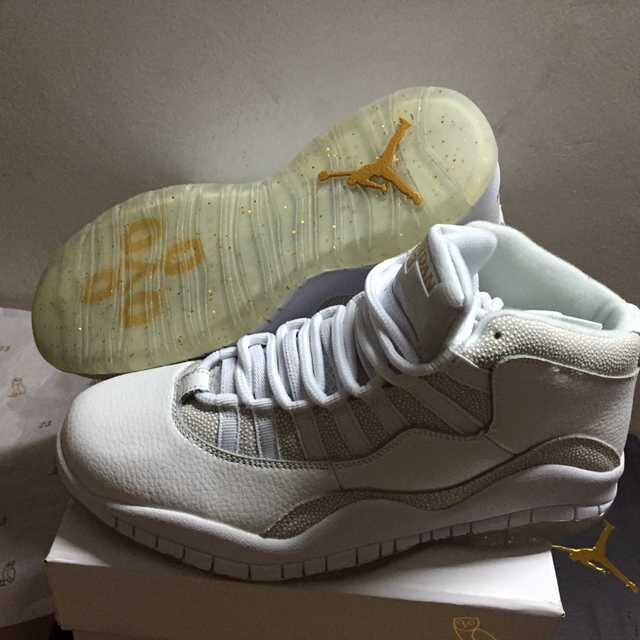 2016 Air Jordan 10 X Retro OVO White Shoes