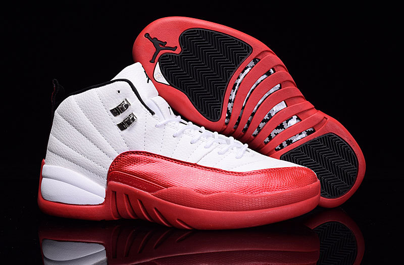 2016 Air Jordan 12 Cherry White Varsity Red Black Shoes