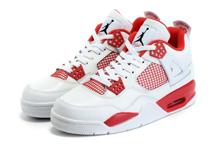New Air Jordan 4 Altalantci White Rede Shoes