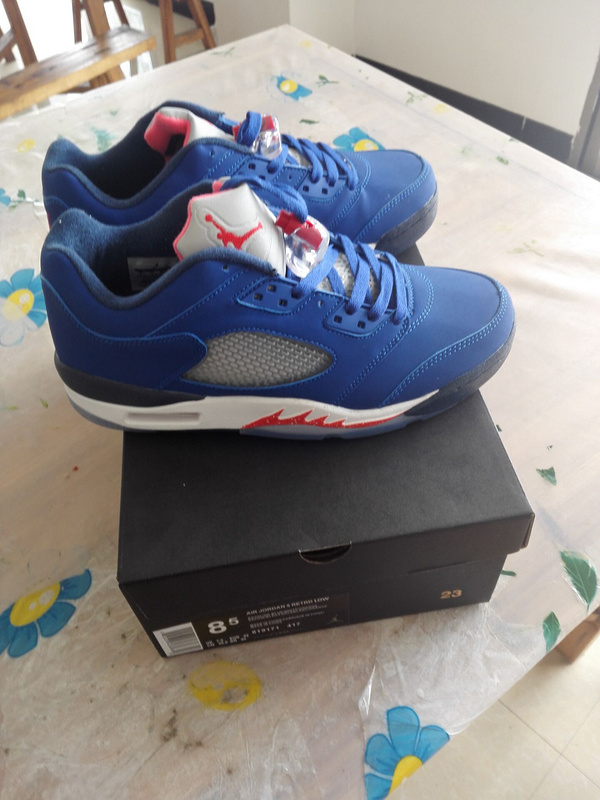 Air Jordan 5 Low Carmelo Blue White Red