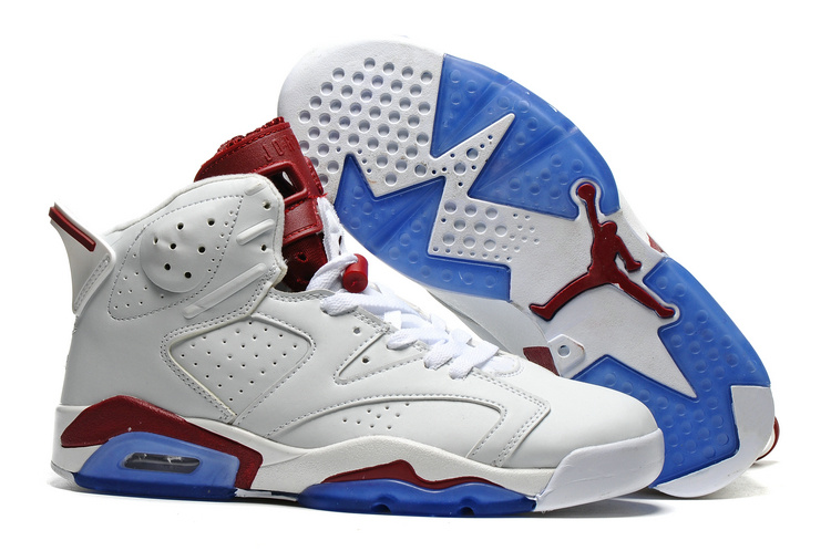 2016 Air Jordan 6 Maroon Off White New Maroon Shoes