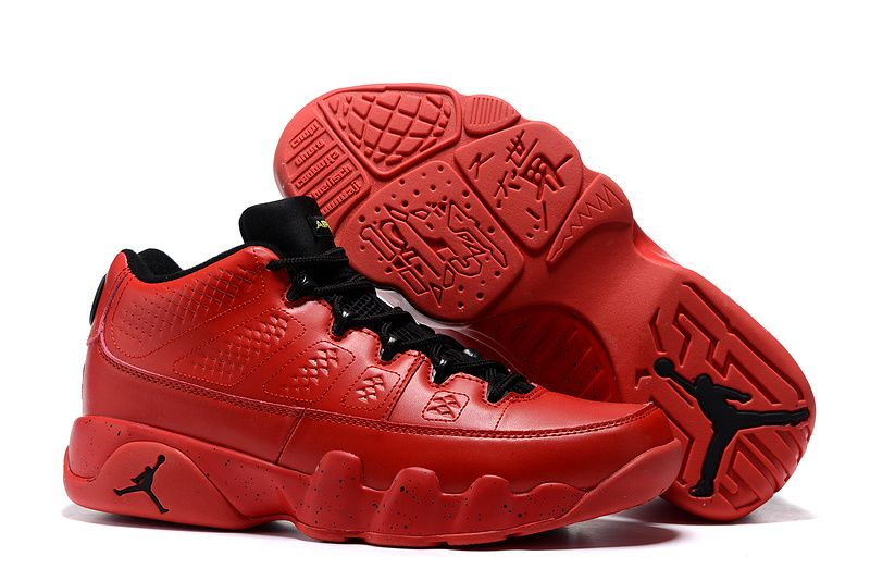 2016 Air Jordan 9 Retro Low Infrared Black Bright Red Shoes