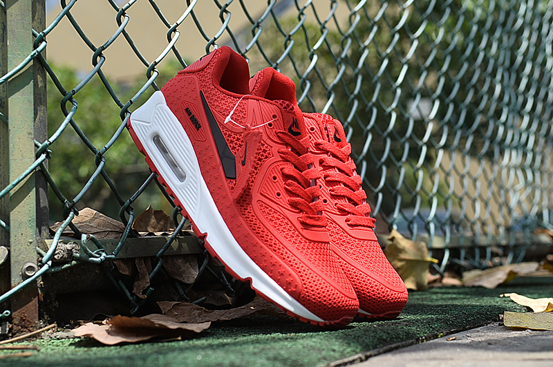 2016 Men Nike Air Max 90 Red White Shoes