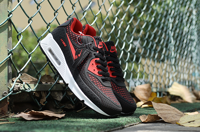 2016 Nike Air Max 90 Black Red White Shoes