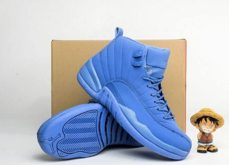 2017 Air Jordan 12 Blue Suede Shoes