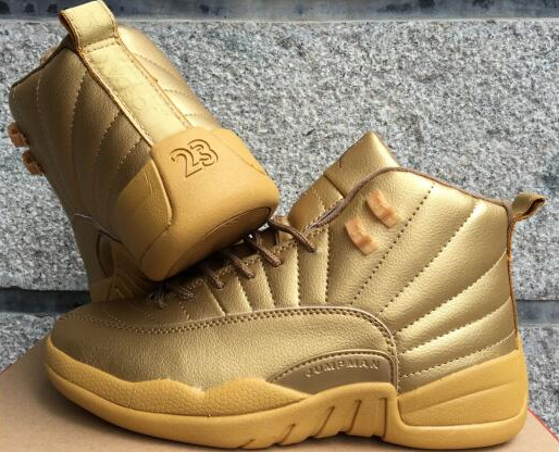 2017 Air Jordan 12 Gold Shoes