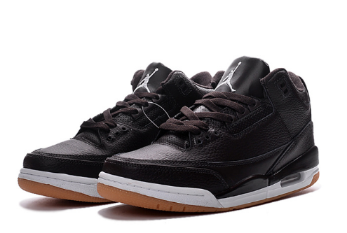 2017 Air Jordan 3 Black Brown White Shoes