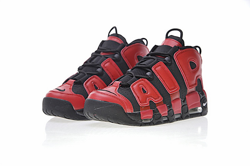 2017 Men Nike Air More Uptempo Red Black