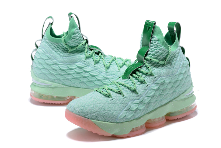 2017 Men Nike Lebron 15 Gint Green Pink Shoes