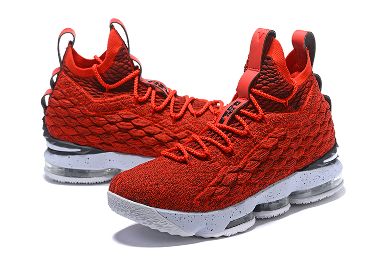 2017 Men Nike Lebron 15 Red White Shoes