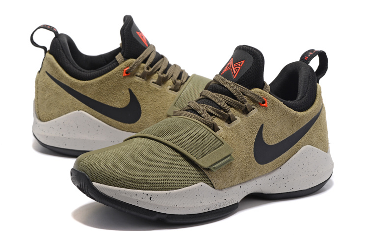 2017 Men Nike PG 1 Army Green Black Shoes