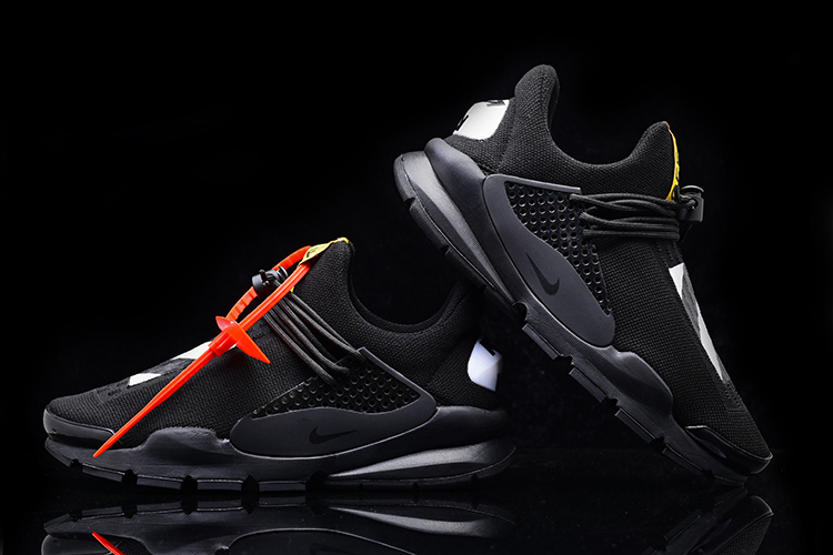 2017 Men Off White x Nike Sock Dart All Black Shoes