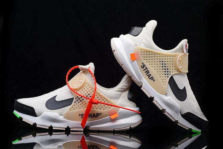 2017 Men Off White x Nike Sock Dart White Black Shoes