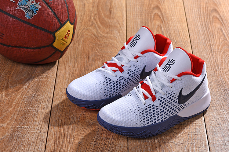 2018 Men Nike Kyrie Irving 3 White Blue Red Shoes