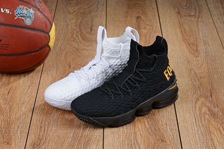 2018 Men Nike Lebron 15 Equality Black and White Shoes