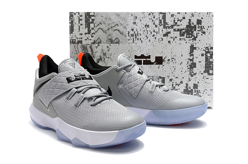 2018 Men Nike Lebron Ambassador 10 Grey Black Shoes