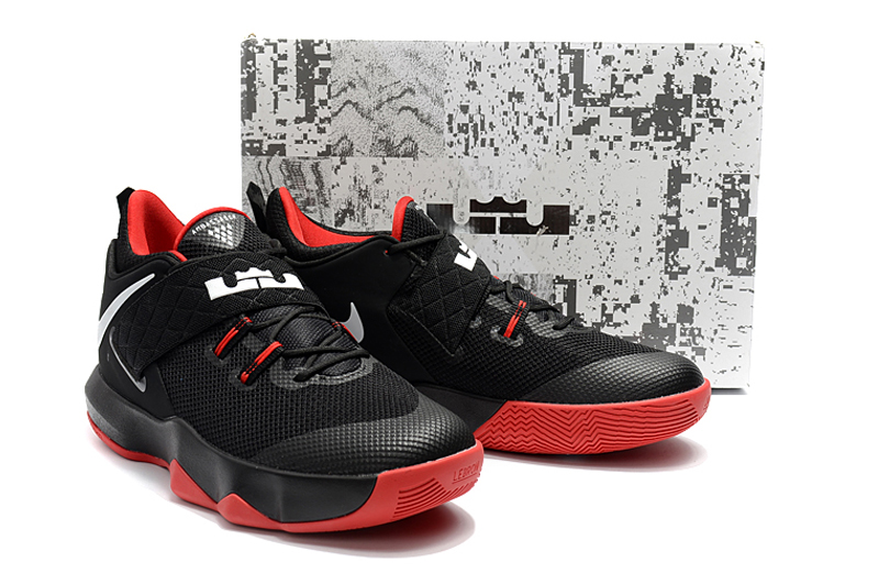 2018 Men Nike Lebron Ambassador X Black Red Shoes