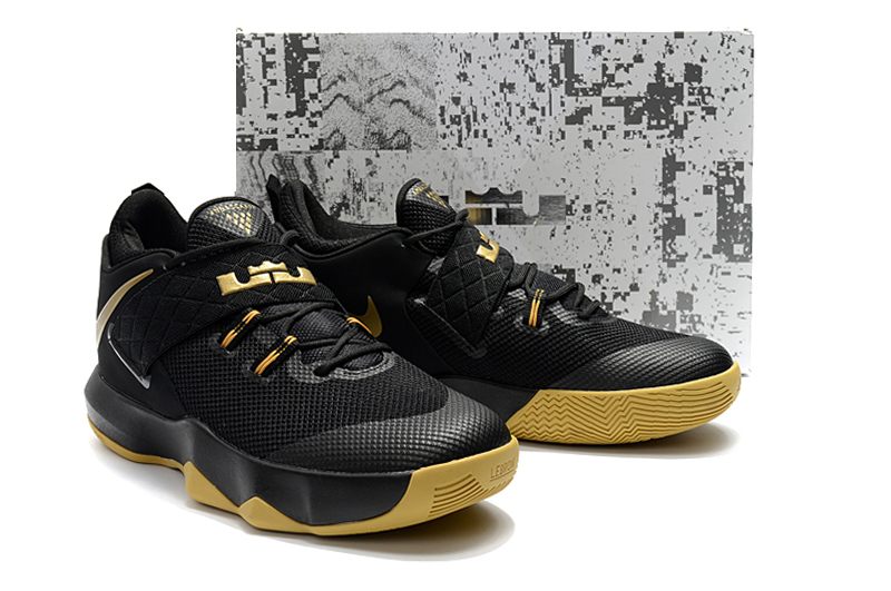 2018 Men Nike Lebron Ambassador X Black Yellow Shoes