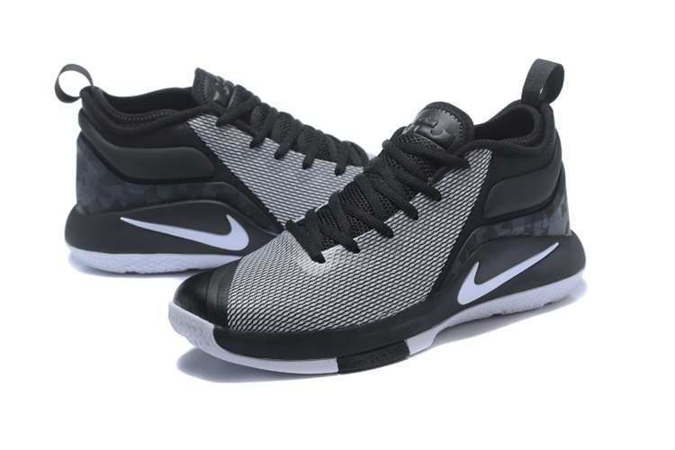 2018 Men Nike Lebron Witness 2 Grey Black Shoes