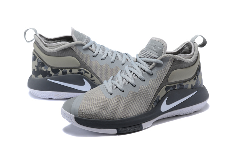 2018 Men Nike Lebron Witness 2 Grey White Shoes