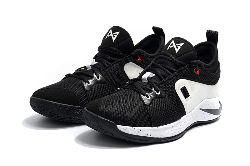 2018 Men Nike PG 2 Black White Shoes