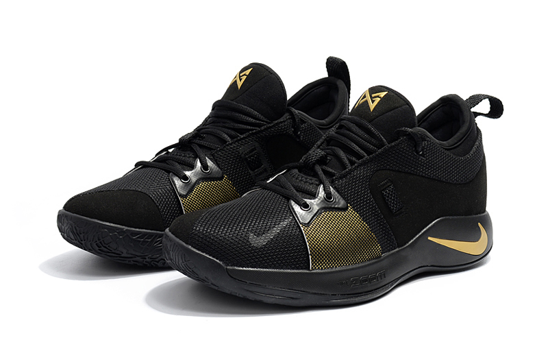 2018 Men Nike PG 2 Black Yellow Shoes