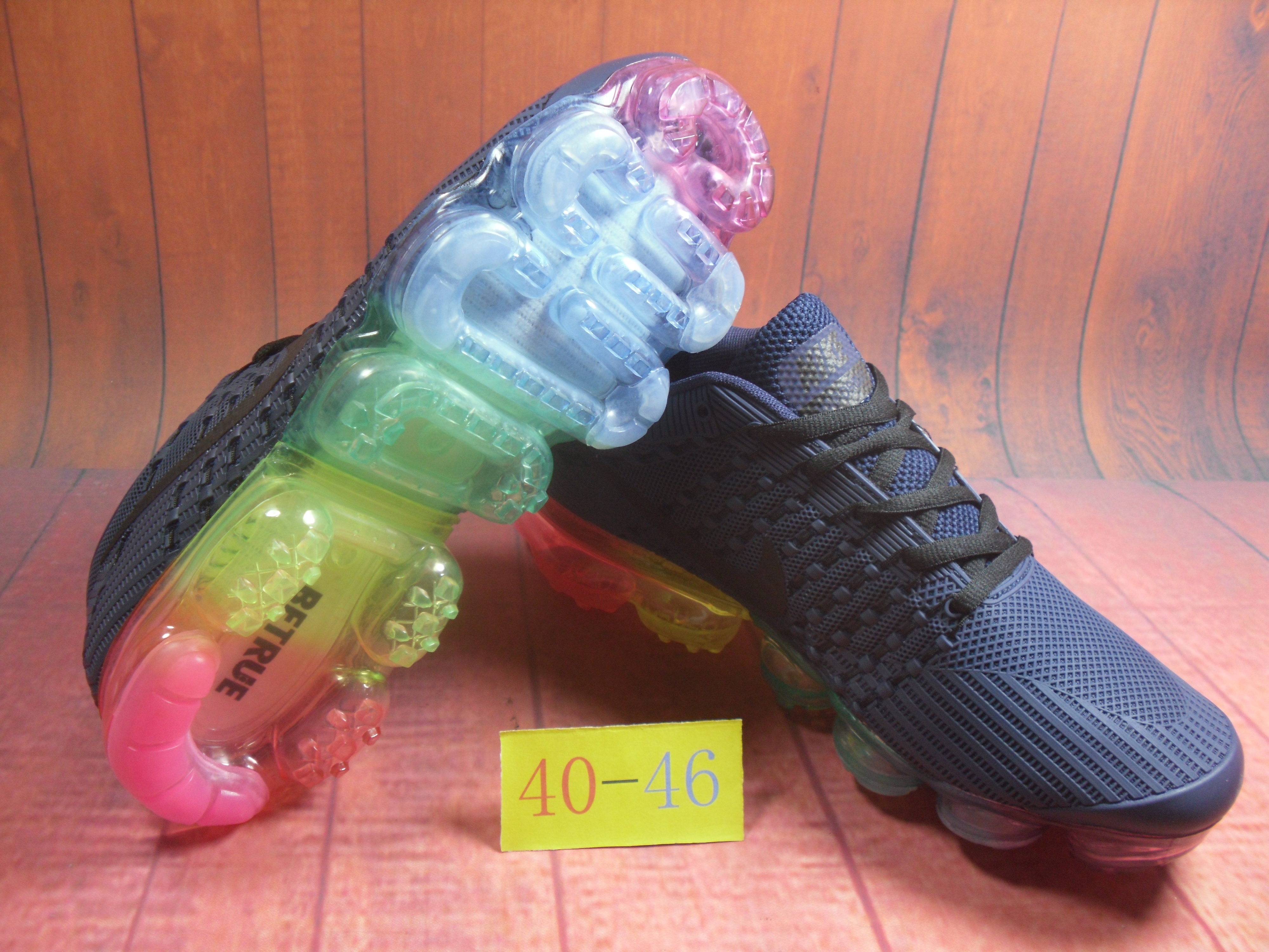 New Nike Air VaporMax Flyknit KPU Blue Colorful
