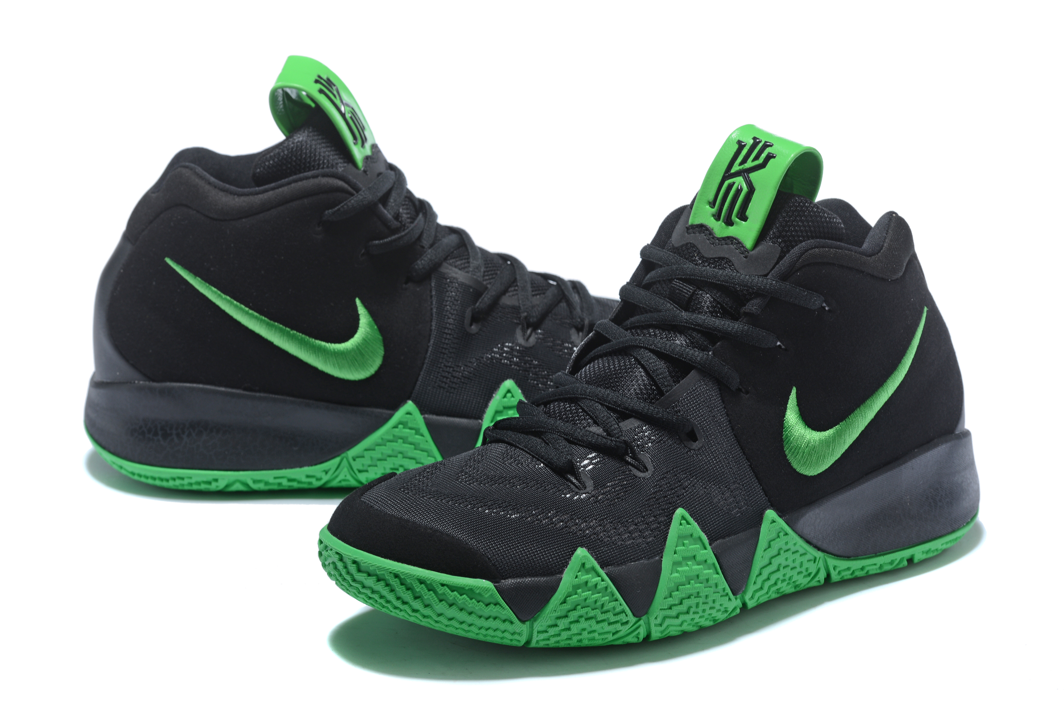 2018 Nike Kyrie Irving 4 Black Green Shoes