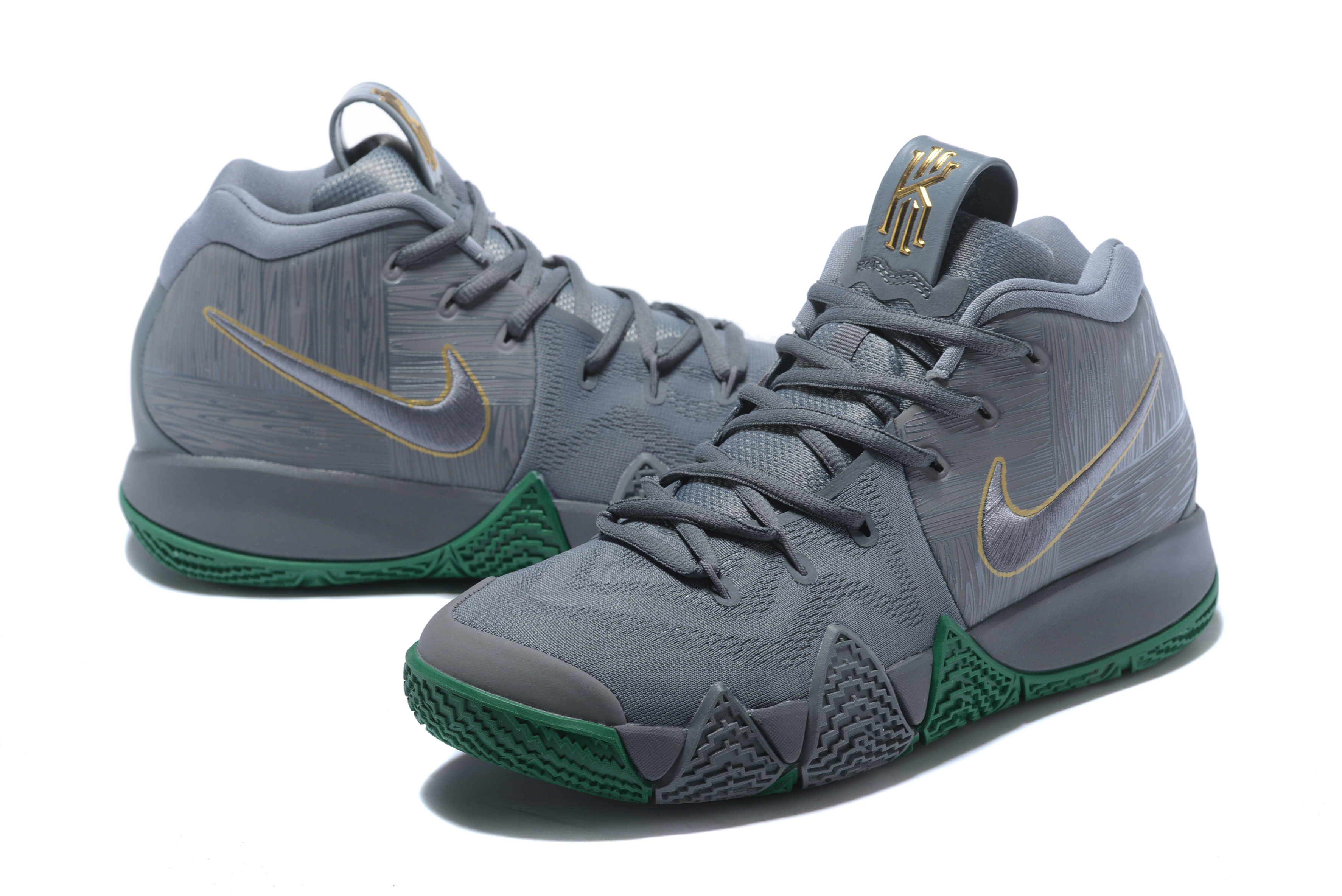 2018 Nike Kyrie Irving 4 Grey Green Shoes