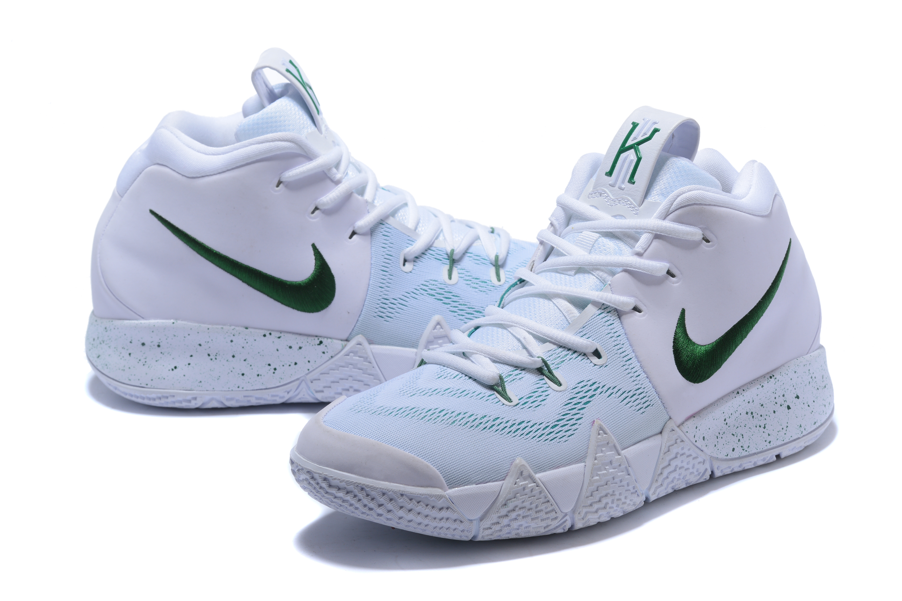 2018 Nike Kyrie Irving 4 White Green Shoes
