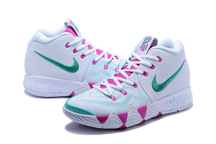 2018 Nike Kyrie Irving 4 White Purple Green Shoes