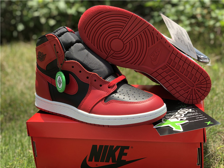 2020 Cheap Air jordan 1 hi 85 varsity red shoes