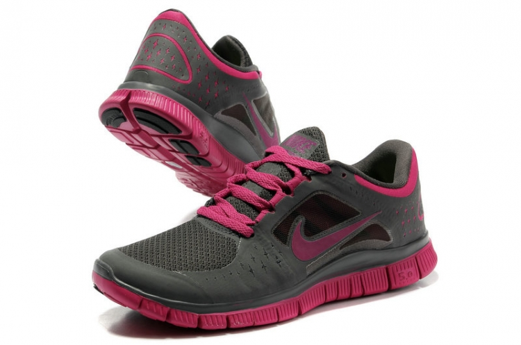 Nike Free Run 3 Women Carbon Gray Fuchsia R3F339