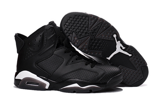 Air Jordan 6 Black Cat Black White Shoes