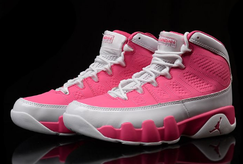 Air Jordan 9 GS Pink White Shoes