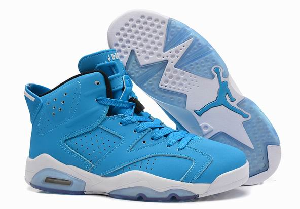Air Jordans 6 Pantone Blue Shoes