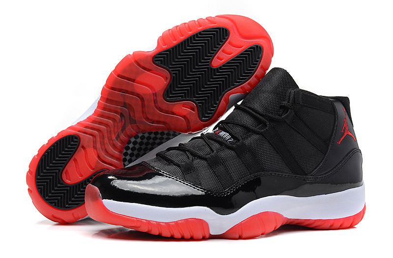 Air Jordan 11 Retro Bred Black White Varsity Red