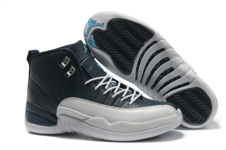 Air Jordan 12 Retro Obsidian White French Blue University Blue