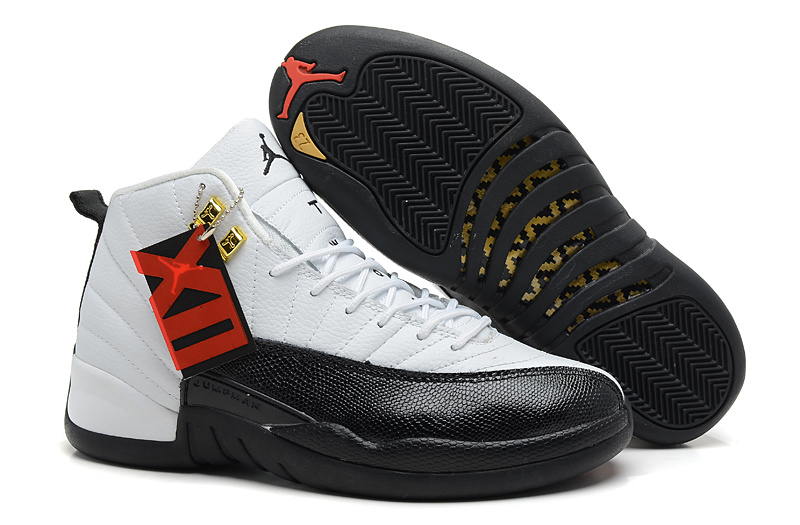 Air Jordan 12 Retro Taxi White Black Taxi Cheap