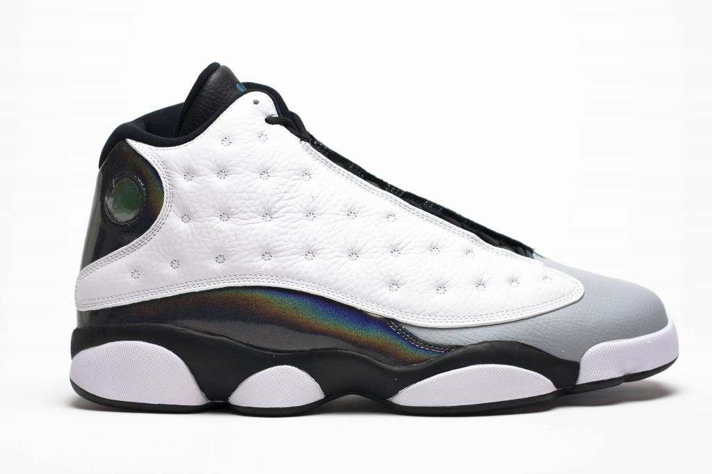 Air Jordan 13 Retro Barons Tropical White Black Wolf Grey Teal