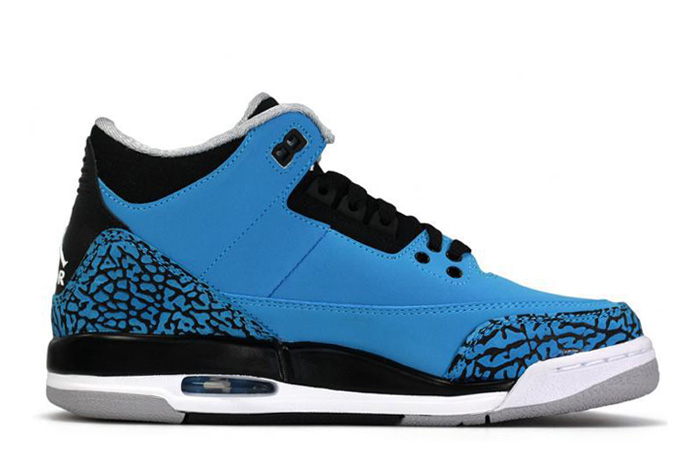 Air Jordan 3 Retro Dark Powder Blue White Black Wolf Grey