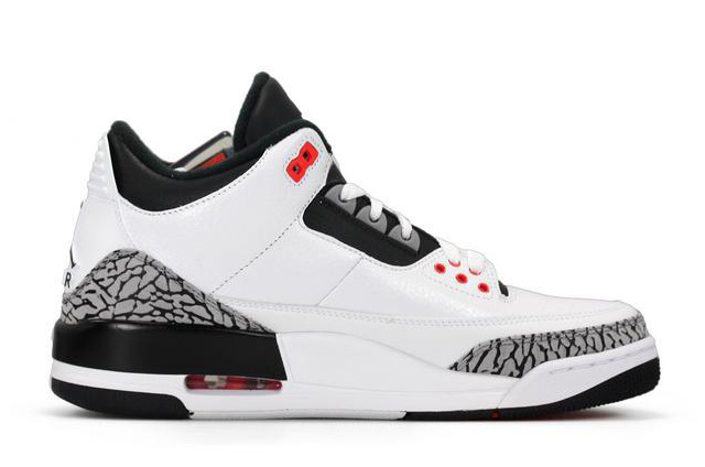 Air Jordan 3 Retro White Black Wolf Grey Infrared 23 2014