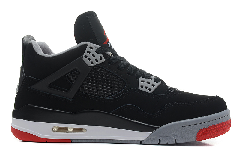 Air Jordan 4 Retro Bred Black Cement Grey Fire Red