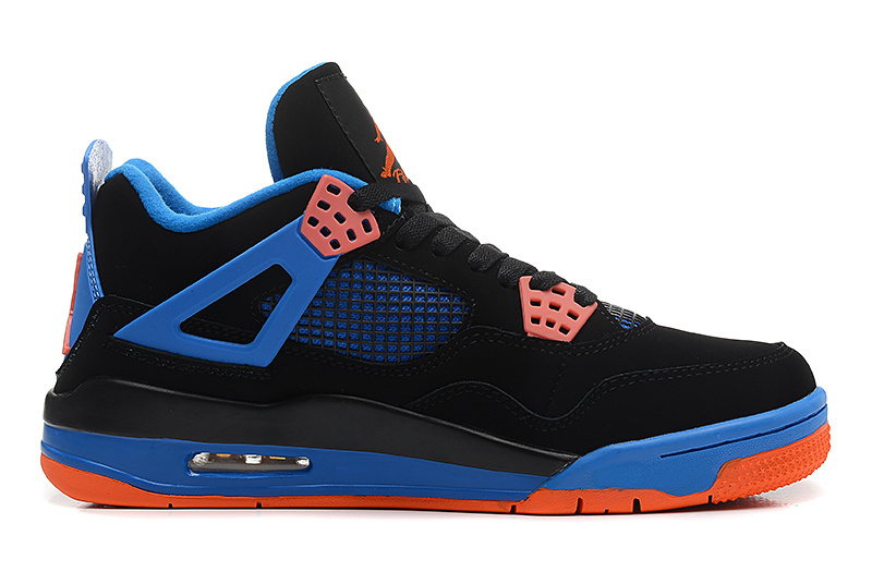 Air Jordan 4 Retro Cavs Black Orange Blaze Old Royal