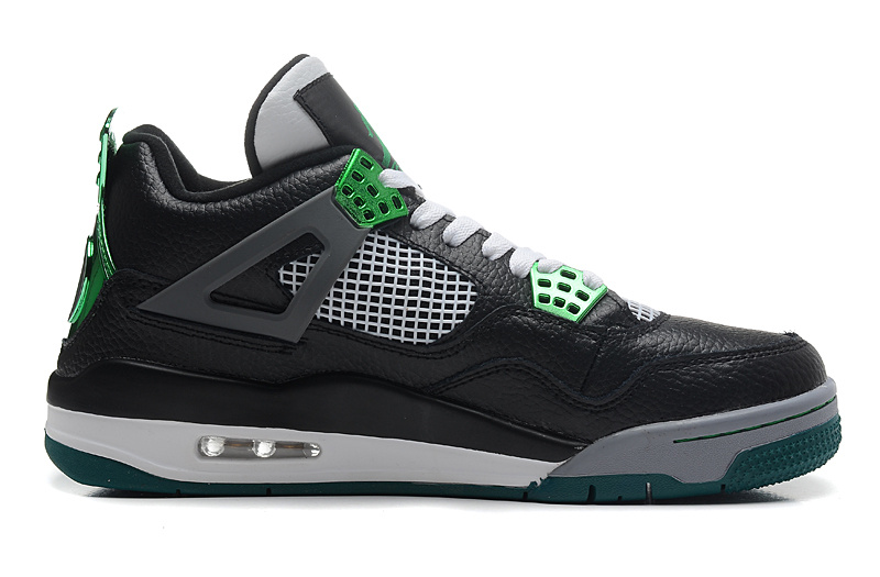 Air Jordan 4 Retro Oregon Ducks Black Metallic Oregon Gren Grey White