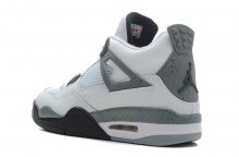 Air Jordan 4 Retro White Black Cement Grey Cheap