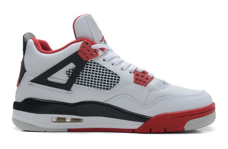 Air Jordan 4 Retro White Fire Red Black Cheap
